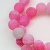 Бусина Агат цветочный матовый (тониров), шарик, цвет - розовый, 12 мм, нить