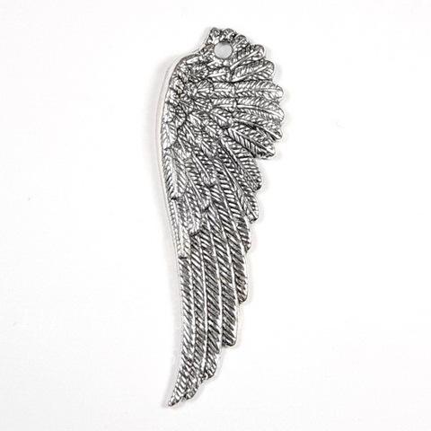 """Подвеска """"Крыло"""" 51х17 мм (цвет - античное серебро)"""