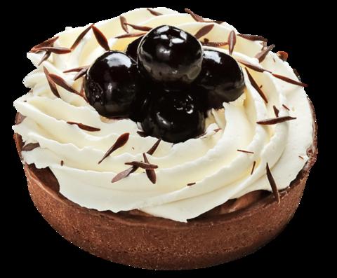 Пирожное Тарталетка шоколадная с вишней