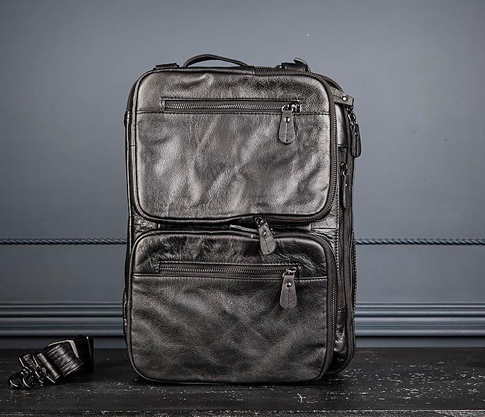 BAG512-1 Портфель рюкзак трансформер из натуральной кожи фото 08