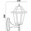 Светильник садово-парковый, 60W 230V E27 черный, 6101 (Feron)