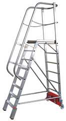Лестница с платформой VARIO, траверса 2000 10 ступ.