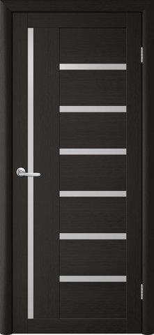 Дверь TrendDoors TDT-3, стекло белое матовое, цвет лиственница тёмная, остекленная