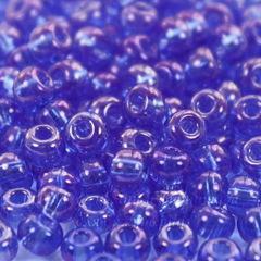 31050 Бисер 6/0 Preciosa прозрачный радужный васильковый