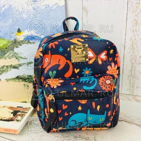 Детский рюкзак Весёлые Коты синий