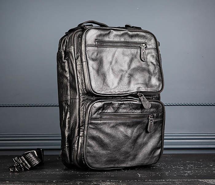 BAG512-1 Портфель рюкзак трансформер из натуральной кожи фото 09