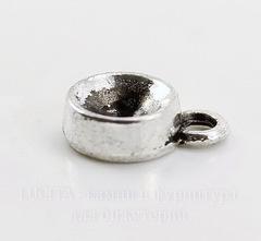 Сеттинг - основа - подвеска для страза 7 мм (цвет - античное серебро) 13х9 мм