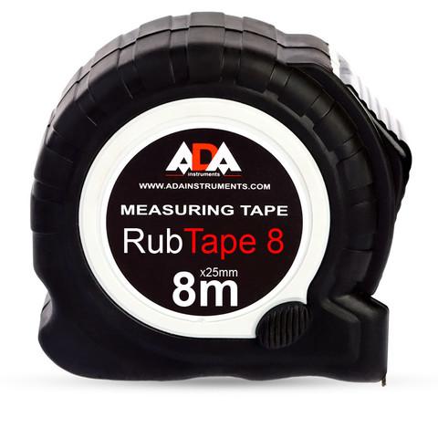 Рулетка ADA RubTape 8 (сталь, с двумя СТОПами, 8 м) (А00157)