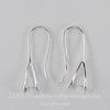 Швензы - крючки с держателем для подвески, 25х10 мм (цвет - серебро), пара