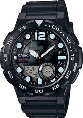Мужские электронные японские наручные часы Casio AEQ-100W-1AVEF