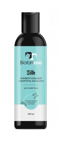 Универсальный шампунь-бальзам Biofan Zoo Silk с маслом жожоба и экстрактом алоем вера для животных - 250 мл