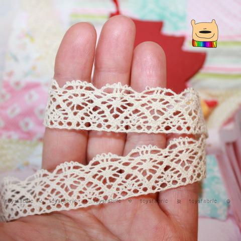 Кружево вязаное КХ2-Н (небеленое) 90см