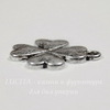 "Подвеска ""Клевер"" 20х17 мм (цвет - античное серебро)"