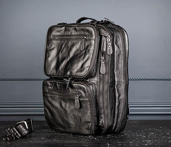 BAG512-1 Портфель рюкзак трансформер из натуральной кожи фото 10