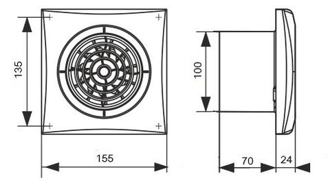 Накладной вентилятор Эра AURA 4 D100