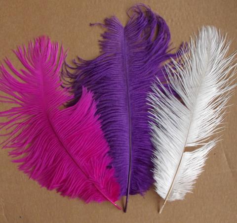 Перья страуса  декоративные 30-35 см. Уценка, категория 2 (выбрать цвет)