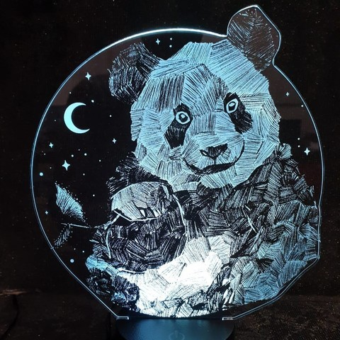 Светильник панда