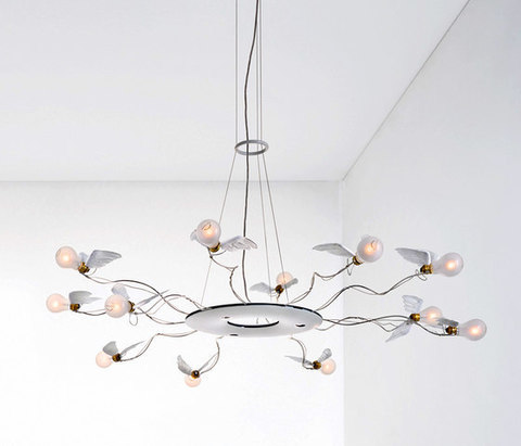 replica Ingo Maurer Birdie's Ring 12-Light Round Chandelier
