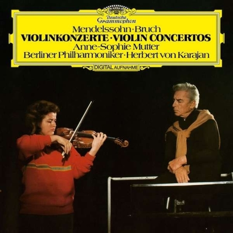 Anne-Sophie Mutter, Berlin Philharmonic, Herbert von Karajan / Mendelssohn, Bruch : Violin Concertos (LP)