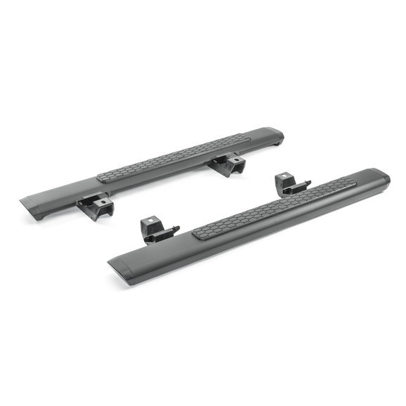 Боковые подножки, пороги (2 двери, черные) Mopar 82215328 для Jeep Wrangler 2018 - 2 piece set locking hood look catch hood latches kit for jeep wrangler jk rubicon sahara unlimited 2007 2016
