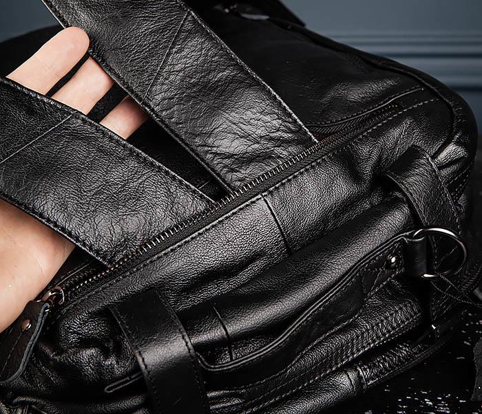 BAG512-1 Портфель рюкзак трансформер из натуральной кожи фото 12