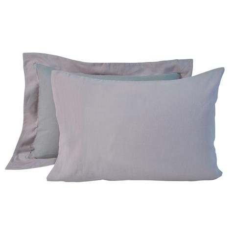 Постельное белье 2 спальное евро макси Casual Avenue Hampton дым-розовое