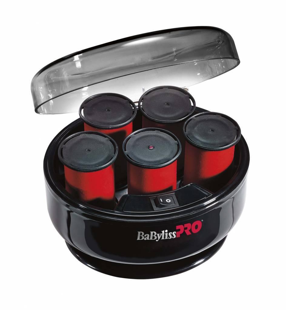 Профессиональные термобигуди для волос BaByliss PRO BABTS6GSE для создания больших локонов, волн и подъема причесок. Вельветовое покрытие превосходно защищает ваши волосы от контакта с высокой температурой и позволяет добиться максимального результата. Кажый ролик электобигуди оснащен световым индикатором нагрева, оповещающем о готовности к использованию. Нагревание и хранение проиводится в специальном боксе, закрывающемся крышкой.  Особенности и технические характеристики электрического бигуди BaByliss PRO BABTS6GSE:  Диаметр - 40 мм. Мощность - 400 Вт. Температура нагрева - 120°C. 5 зажимов