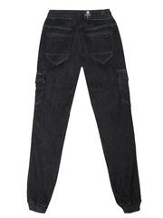 1-1545 джинсы мужские, черные