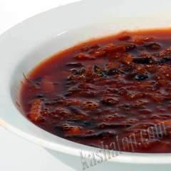 Борщ Тимирязевский со свининой 'Каша из топора', готовое блюдо