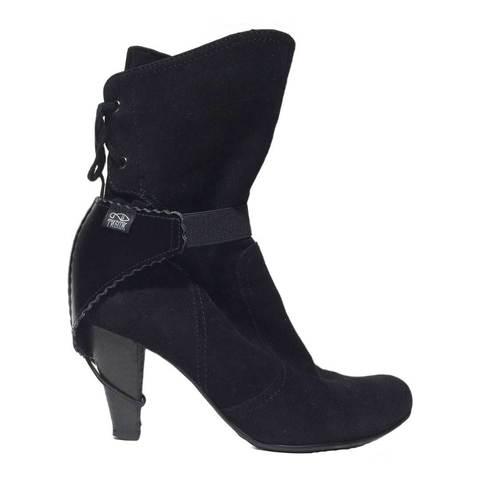 Автопятка для женской обуви с каблуком черная (эластичный ремешок)