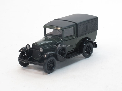 GAZ-4 with awning green-black 1:43 Nash Avtoprom