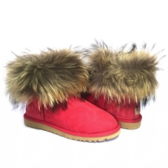 UGG Mini Fox Fur Red