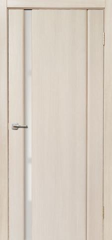 Дверь Дера Оскар 983, стекло триплекс белый, цвет беленый дуб, остекленная