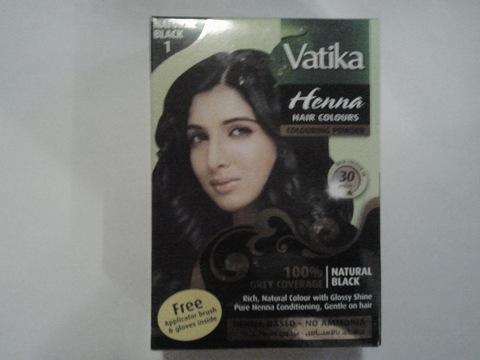Краска для волос Чёрная, 60 г Vatika