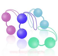 Вагинальные шарики из силикона, со смещенным центром тяжести Joyballs Trend (3,5 см.; Вес 83 гр)