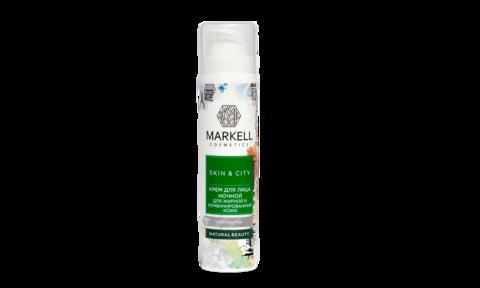 Markell Skin&City Крем для лица Ночной для жирной и комбинированной кожи Снежный гриб 50мл