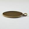 """Сеттинг - основа - подвеска """"Миледи"""" для камеи или кабошона 40х30 мм (цвет - античная бронза)"""