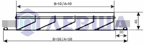 ЛВН 400х400 Решетка наружная