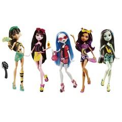Набор из 5 кукол  Монстер Хай - Мрачный Пляж (5-Pack Gloom Beach), Mattel