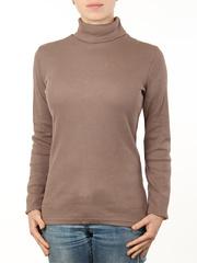 1451-5 водолазка женская, коричневая