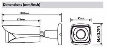 Уличная Видеокамера STARLIGHT CMOS SONY IMX 291 AHD камера 2Mp CAICO-TECH FY 5504 ZOOM 6-22mm ; Авто фокус / Авто IRIS Объектив моторизован