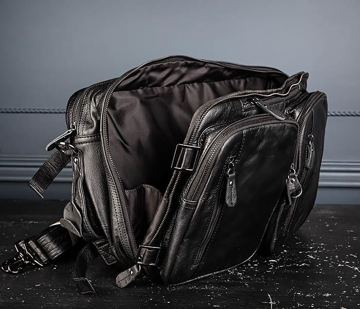 BAG512-1 Портфель рюкзак трансформер из натуральной кожи фото 17