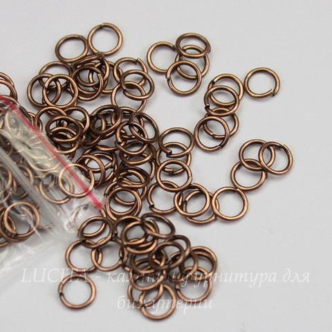 Комплект колечек одинарных 5х0,7 мм (цвет - античная медь), 10 гр (примерно 230 шт)