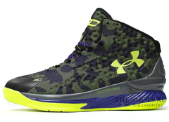 Кроссовки Мужские Under Armour Curry One Violet Green Camo