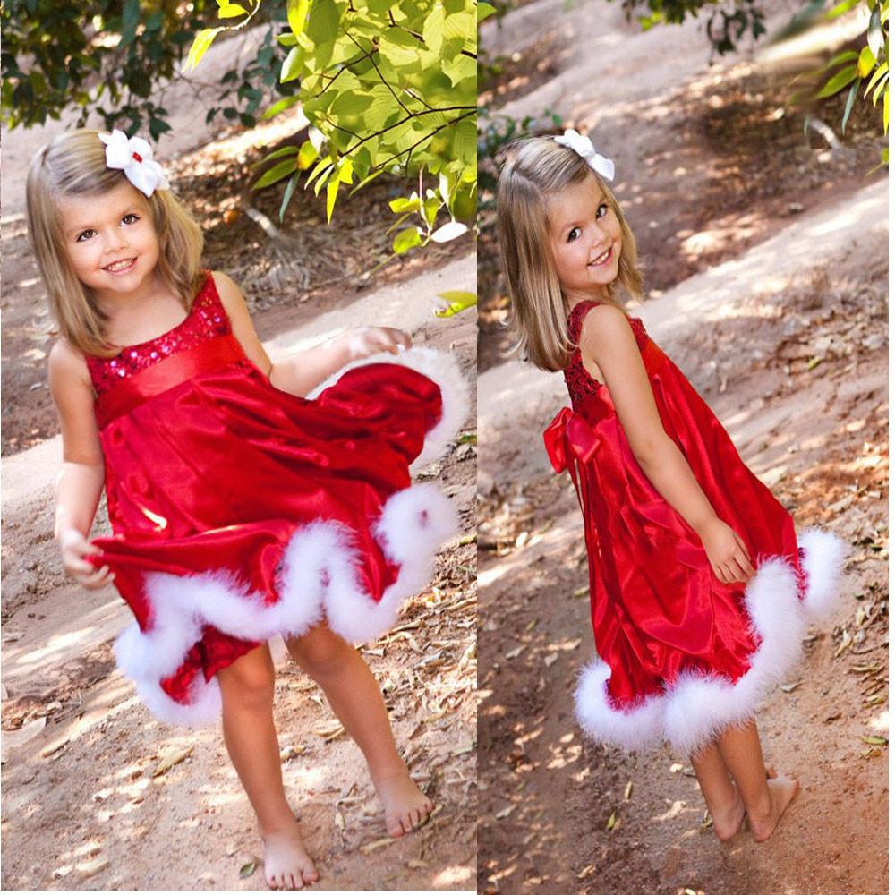 Платье детское праздничное для девочки красное