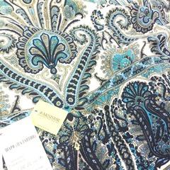 Шарф с синим узором в Русском стиле, магазин aksisur.ru