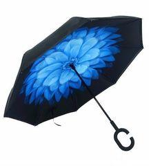 """Зонт-наоборот """"Синий цветок"""""""