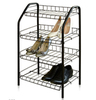 Этажерка для обуви ЭТ2 4-х ярусная, на металлокаркасе (цвет черный), Ника, г. Ижевск