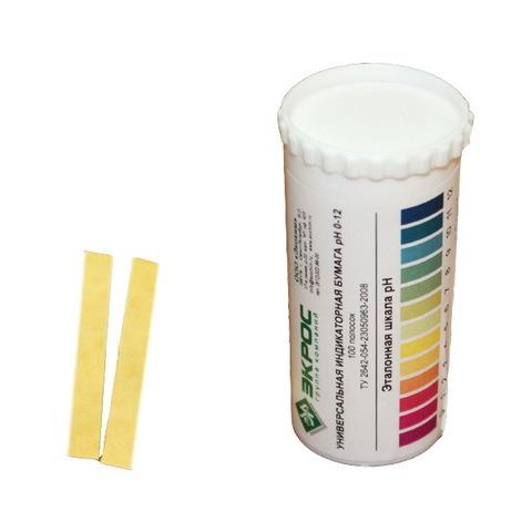 Индикаторная бумага pH 0-12 в тубе 100 штук