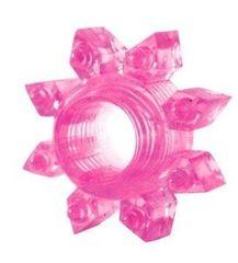 Розовое эрекционное кольцо Cockring star -